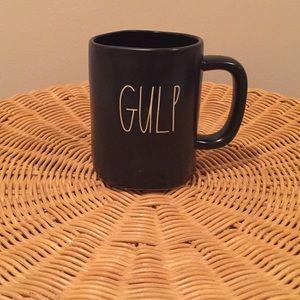 """Rae Dunn """"Gulp"""" ceramic mug."""